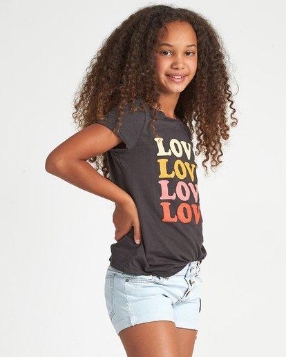 3 So Much Love - Camiseta con estampado gráfico para Chicas adolescentes Negro S8SS01BIP0 Billabong