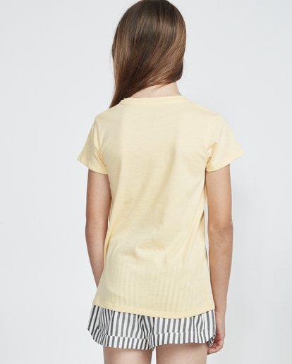 1 Sand And Surf - Camiseta para Chicas adolescentes Amarillo S8SS02BIP0 Billabong