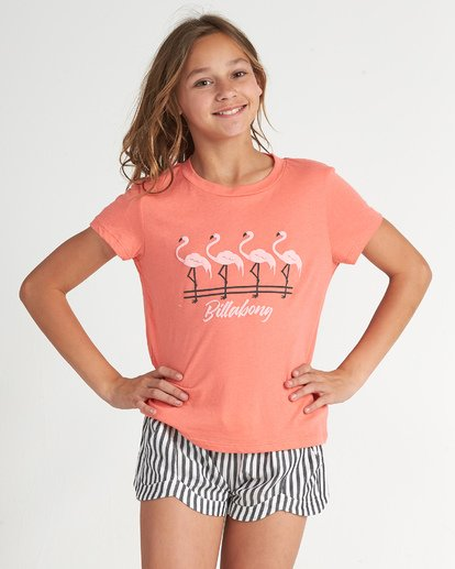1 Flamingos In Pink - Graphic T-Shirt for Teen Girls Pink S8SS04BIP0 Billabong