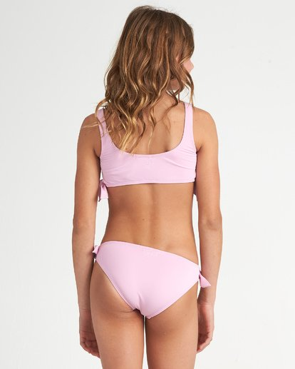 1 Sunset Glow Hky Tie - Conjunto de bikini de color liso para Chicas adolescentes Multicolor S8SW04BIP0 Billabong