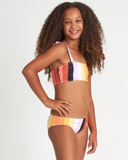 2 Sunset Glow St - Completo Bikini a Righe da Ragazza adolescente Multicolor S8SW05BIP0 Billabong