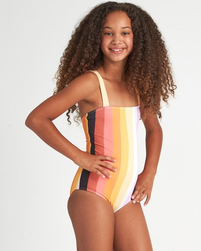 0 Sunset Glow 1 Pc - Bañador de una pieza a rayas para Chicas adolescentes Multicolor S8SW06BIP0 Billabong