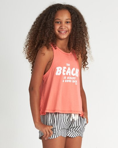 1 Beach Idea - Camiseta para Chicas adolescentes Rosa S8TT01BIP0 Billabong