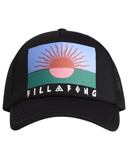 4 Across Waves - Graphic Trucker Hat for Women Black S9CT05BIP0 Billabong