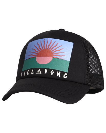 6 Across Waves - Graphic Trucker Hat for Women Black S9CT05BIP0 Billabong