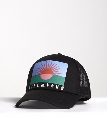 2 Across Waves - Graphic Trucker Hat for Women Black S9CT05BIP0 Billabong