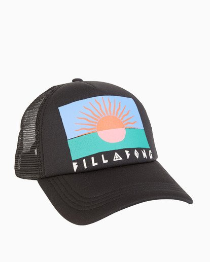 3 Across Waves - Graphic Trucker Hat for Women Black S9CT05BIP0 Billabong