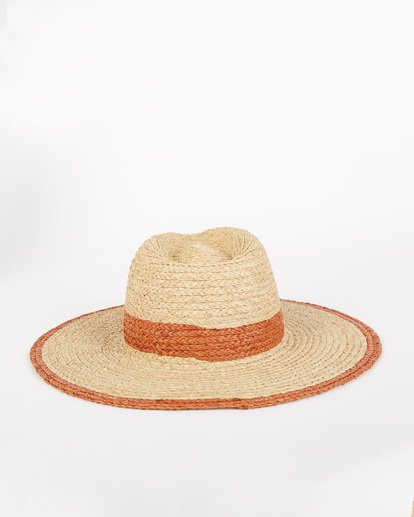 1 State Of Mind - Straw Fedora Hat for Women Brown S9HT03BIP0 Billabong
