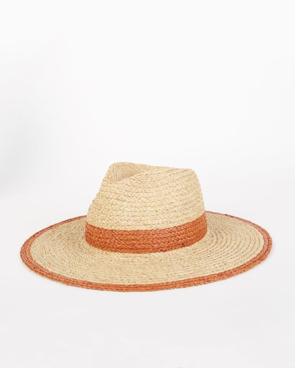 2 State Of Mind - Straw Fedora Hat for Women Brown S9HT03BIP0 Billabong