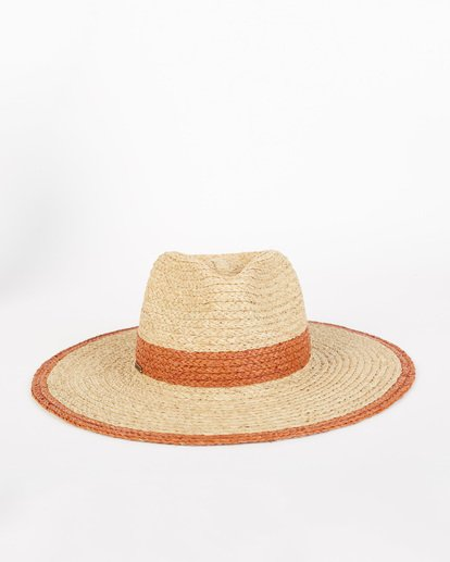 3 State Of Mind - Straw Fedora Hat for Women Brown S9HT03BIP0 Billabong