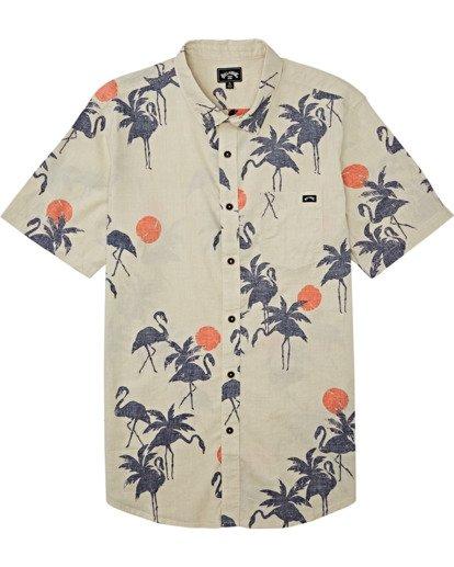 3 Sundays Floral - T-Shirt mit kurzen Ärmeln für Männer Grau T1SH03BIS0 Billabong