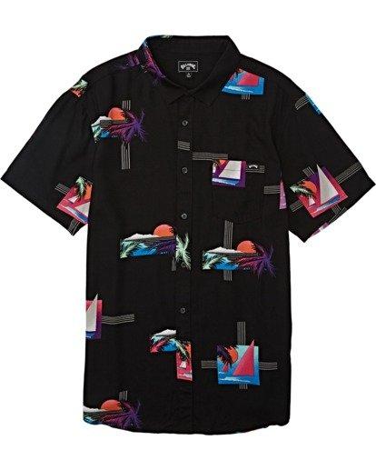 3 Sundays Floral - Camiseta de manga corta para Hombre Negro T1SH03BIS0 Billabong