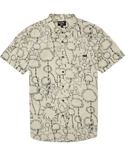 3 Truffula - T-Shirt mit kurzen Ärmeln für Männer Grau T1SH05BIS0 Billabong