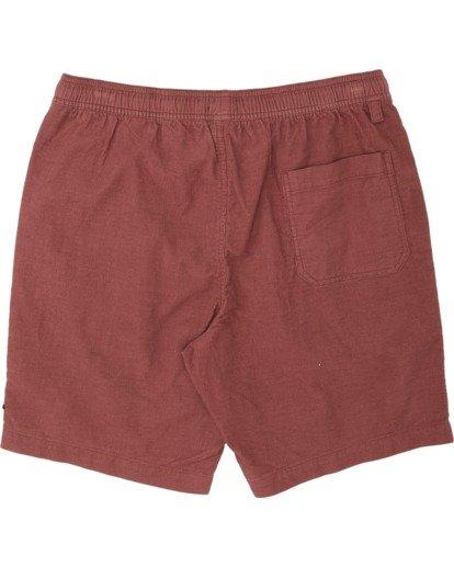 4 Larry Layback - Shorts de pana para Hombre Rojo T1WK07BIS0 Billabong