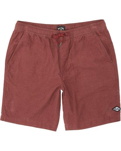 3 Larry Layback - Shorts de pana para Hombre Rojo T1WK07BIS0 Billabong