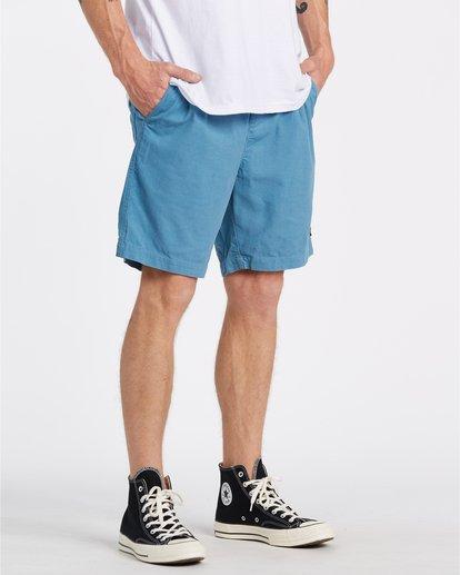 3 Larry Layback - Shorts de pana para Hombre Azul T1WK07BIS0 Billabong