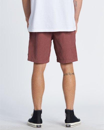 2 Larry Layback - Cord-Shorts für Männer Rot T1WK07BIS0 Billabong