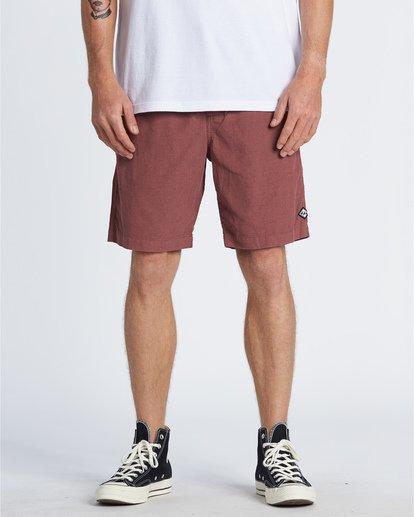 0 Larry Layback - Shorts de pana para Hombre Rojo T1WK07BIS0 Billabong