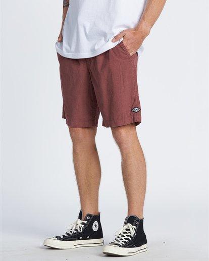 1 Larry Layback - Cord-Shorts für Männer Rot T1WK07BIS0 Billabong