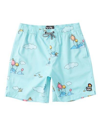 0 Lorax Sundays Layback - Swim Shorts for Toddlers Green T2LB02BIS0 Billabong