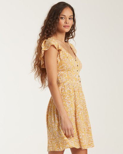 2 Forever Yours - Mini Dress for Women Yellow T3DR01BIS0 Billabong