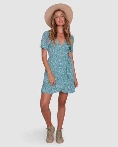 4 Bluesday - Wrap Dress for Women  T3DR50BIMU Billabong