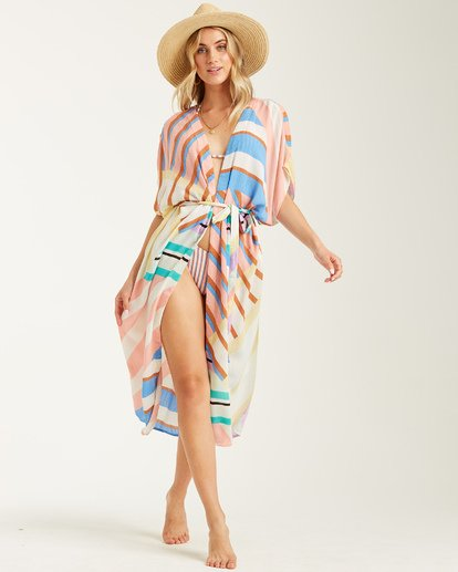 3 Sunburnt Sky - Chal de playa para Mujer Rosa T3OS01BIS0 Billabong