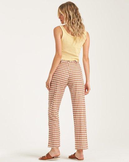 2 Work Waves - Check Trousers for Women  T3PT04BIS0 Billabong
