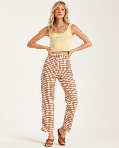 1 Work Waves - Check Trousers for Women  T3PT04BIS0 Billabong