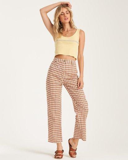 3 Work Waves - Check Trousers for Women  T3PT04BIS0 Billabong