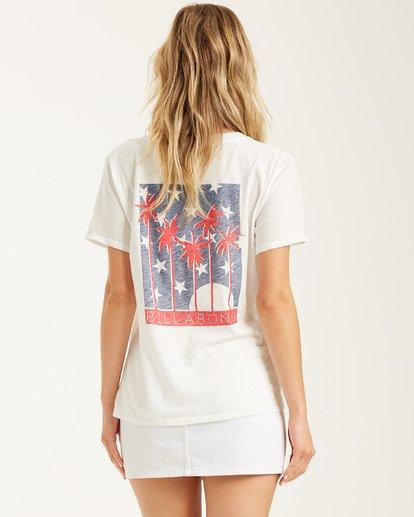 1 Stars and Palms - Camiseta para mujer Blanco T3SS05BIS0 Billabong