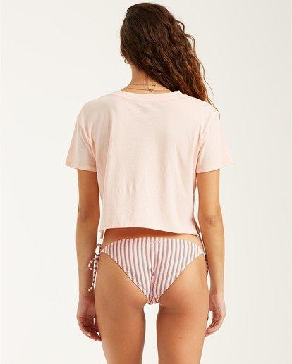 3 Artist View - Camiseta Crop para Mujer Rosa T3SS07BIS0 Billabong