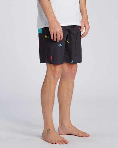 2 Dr Seuss One Fish Two Fish Pro - Boardshorts para Hombre Negro U1BS11BIF0 Billabong