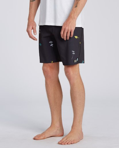 3 Dr Seuss One Fish Two Fish Pro - Boardshorts para Hombre Negro U1BS11BIF0 Billabong