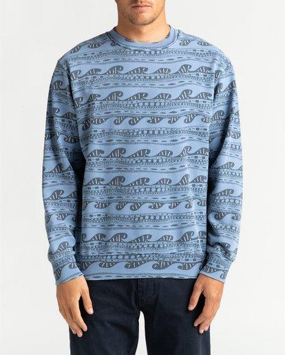 2 Wave Wash Halfrack - Sweatshirt für Männer Blau U1FL08BIF0 Billabong