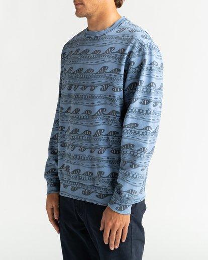 3 Wave Wash Halfrack - Sweatshirt für Männer Blau U1FL08BIF0 Billabong
