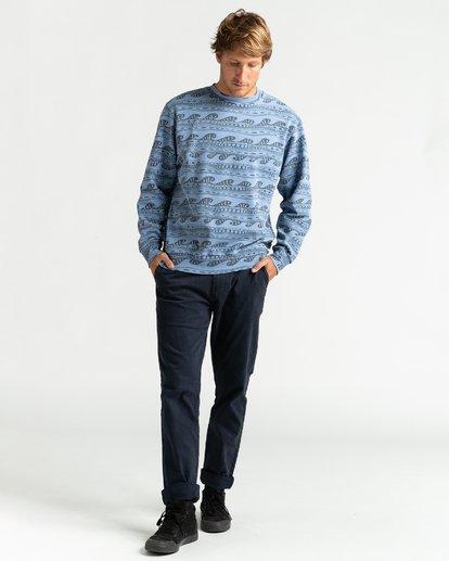 4 Wave Wash Halfrack - Sweatshirt für Männer Blau U1FL08BIF0 Billabong