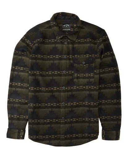 0 Adventure Division Collection Furnace Flannel - Polar para Hombre Camo U1FL31BIF0 Billabong
