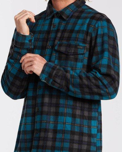3 Adventure Division Collection Furnace Flannel - Fleece für Männer Blau U1FL31BIF0 Billabong