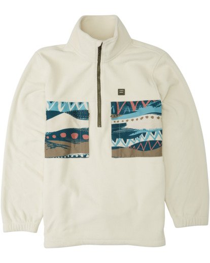 5 Adventure Division Collection Canyon Half - Half-Zip Fleece for Men Grey U1FL33BIF0 Billabong