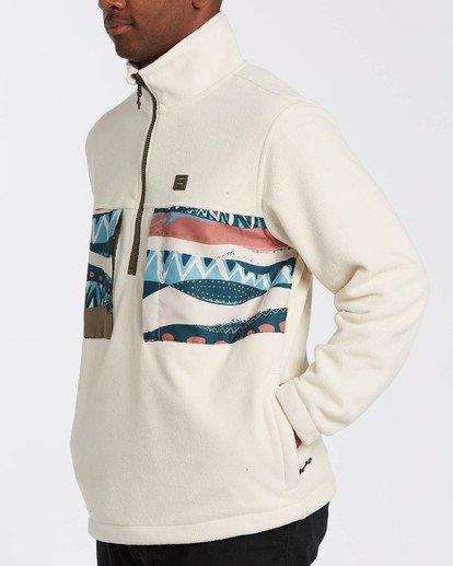 4 Adventure Division Collection Canyon Half - Half-Zip Fleece for Men Grey U1FL33BIF0 Billabong
