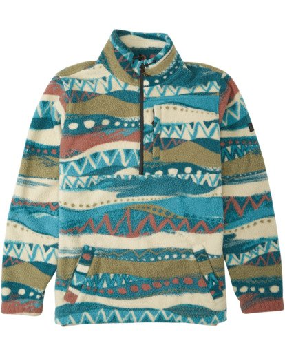 5 Adventure Division Collection Boundary Mock Neck - Polar de cuello alto para Hombre Beige U1FL35BIF0 Billabong