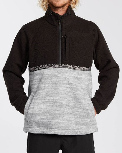 4 Adventure Division Collection Boundary Mock Neck - Sweat déperlant pour Homme Noir U1FL35BIF0 Billabong