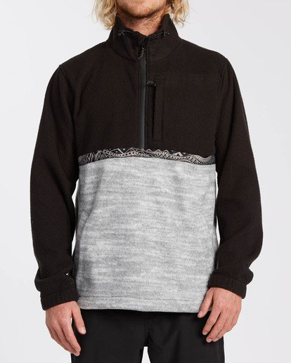 0 Adventure Division Collection Boundary Mock Neck - Polar de cuello alto para Hombre Negro U1FL35BIF0 Billabong