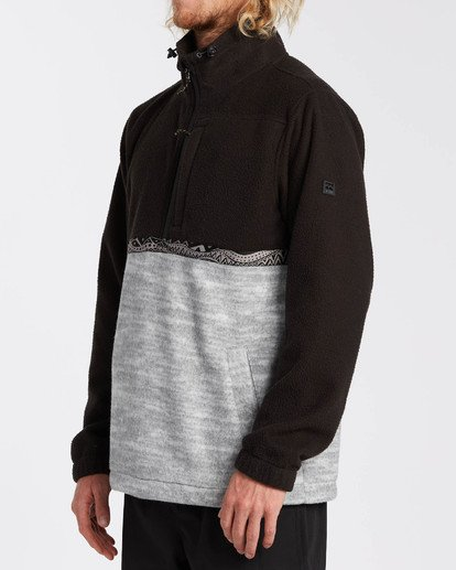 2 Adventure Division Collection Boundary Mock Neck - Sweat déperlant pour Homme Noir U1FL35BIF0 Billabong