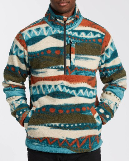 4 Adventure Division Collection Boundary Mock Neck - Polar de cuello alto para Hombre Beige U1FL35BIF0 Billabong