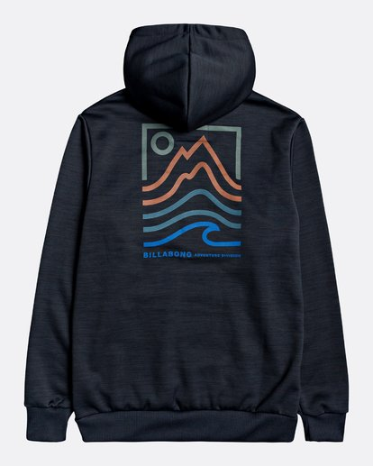 1 Adventure Division Collection Peak - Sudadera con capucha para Hombre Negro U1HO08BIF0 Billabong
