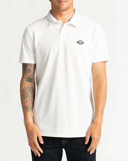 0 Skooled Polo Pique - T-shirt pour Homme Blanc U1JE09BIF0 Billabong