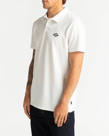2 Skooled Polo Pique - T-shirt pour Homme Blanc U1JE09BIF0 Billabong