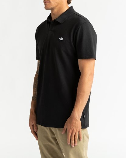 2 Skooled Polo Pique - T-Shirt for Men Black U1JE09BIF0 Billabong